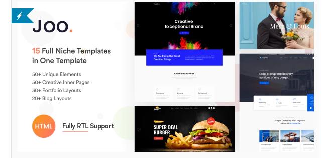 Joo - Niche Multi-Purpose HTML Template