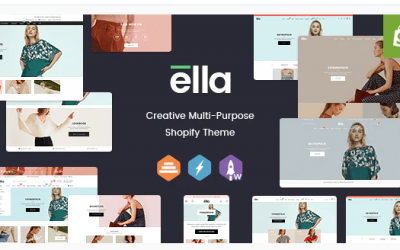 Download Ella - Responsive Shopify Template (Sections Ready) Nulled theme