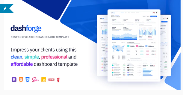 Download Dashforge Responsive Admin Dashboard Template Nulled