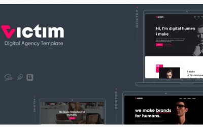 Victim - Digital Agency & Portfolio Template Nulled