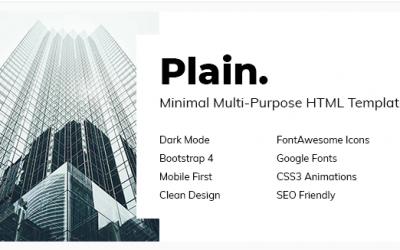 Plain - Minimal Multi-Purpose HTML Template Nulled
