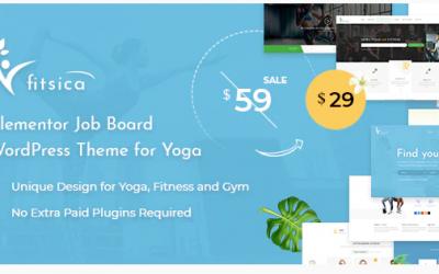 Fitsica - Yoga Jobboard WordPress Theme Nulled