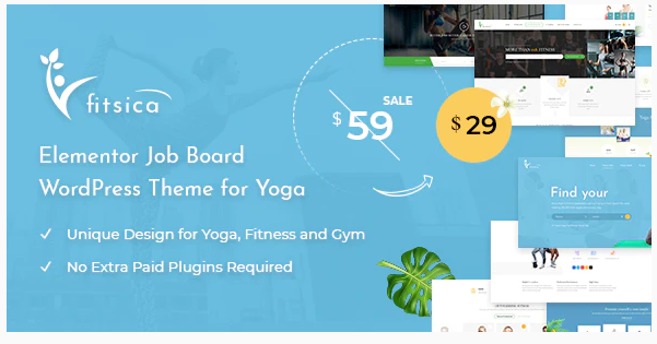 Download Fitsica – Yoga Jobboard WordPress Theme Nulled