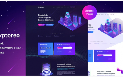 Cryptoreo - ICO and Crypocurrency PSD Template Nulled