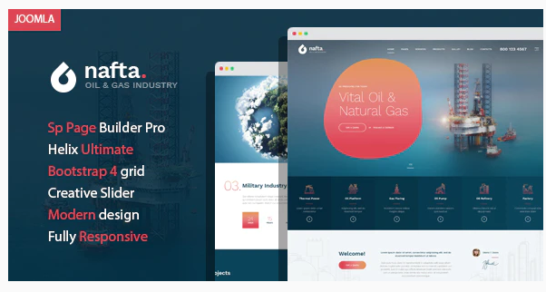 Download Nafta – Oil & Gas Industry Joomla Template with Page Builder Nulled