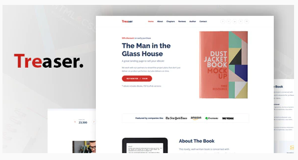 Download Treaser – Author Book landing Template Nulled