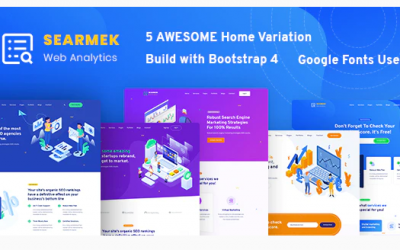 Searmek - SEO and Marketing Template Nulled