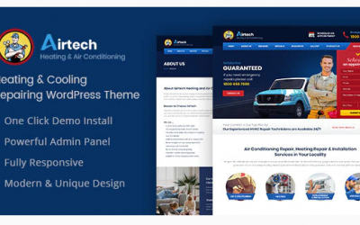 Airtech - Plumber WordPress theme Nulled