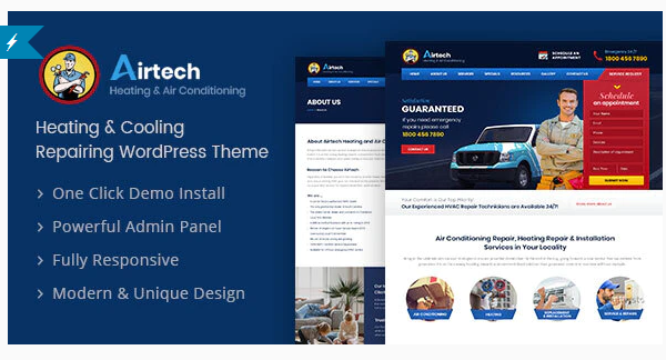 Download Airtech – Plumber WordPress theme Nulled