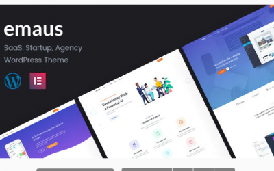 Emaus | SaaS App and Startup WordPress Theme Nulled