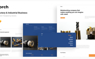 Forch - Factory & Industrial Business Sketch Template Nulled