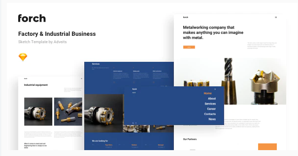 Download Forch – Factory & Industrial Business Sketch Template Nulled