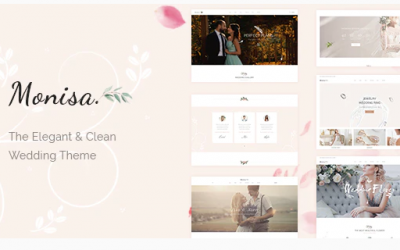 Monisa - Elegant & Clean Wedding Theme Nulled