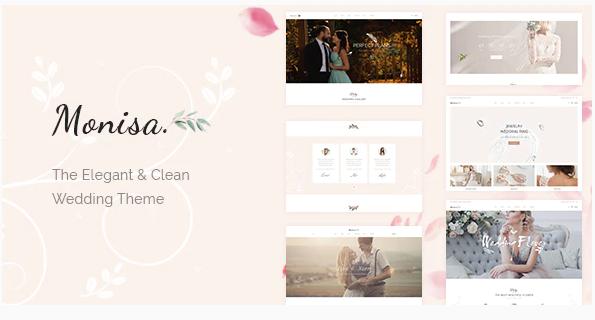 Download Monisa – Elegant & Clean Wedding Theme Nulled
