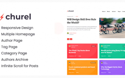 Churel - Modern and Powerful Jekyll Blog Theme Nulled