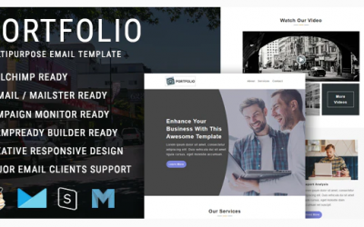 Portfolio - Multipurpose Responsive Email Template with Mailchimp Editor Nulled