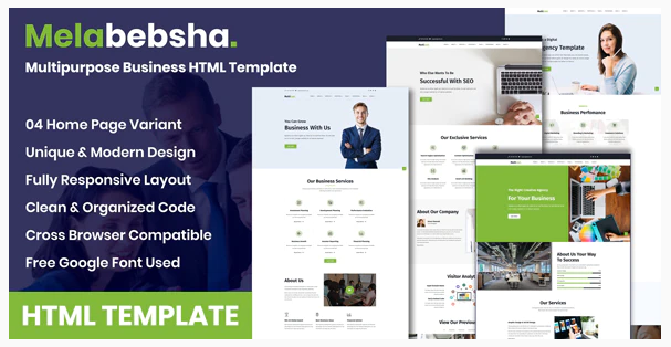 Download Melabebsha – Multipurpose Business HTML Template Nulled