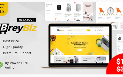 BreyBiz - Multipurpose OpenCart 3 Theme Nulled