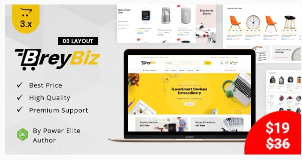 Download BreyBiz – Multipurpose OpenCart 3 Theme Nulled