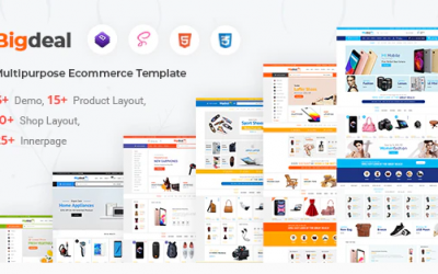 Bigdeal - eCommerce HTML Template Nulled