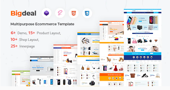 Download Bigdeal – eCommerce HTML Template Nulled