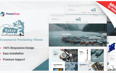 Fishza - Fishing Store Template Nulled