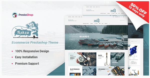 Download Fishza – Fishing Store Template Nulled