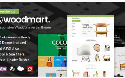 WoodMart - Responsive WooCommerce WordPress Theme Nulled