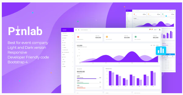 Download PinLab – Bootstrap Admin Dashboard Nulled