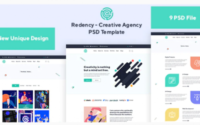 Redency - Creative Agency PSD Template Nulled