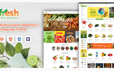 Fresh - Multipurpose Responsive Magento 2 Theme Nulled