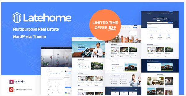 Download LateHome - Real Estate WordPress Theme Nulled | Nulled