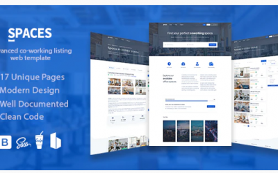Spaces - Coworking Listings Template Nulled