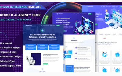 Robotmania – Chatbot & AI Startup Agency Template Nulled
