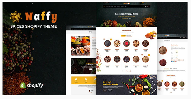 Download Waffy | Spices, Dry Fruits Shopify Theme Nulled