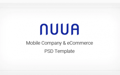 NUUA - Mobile Company and eCommerce PSD Template Nulled