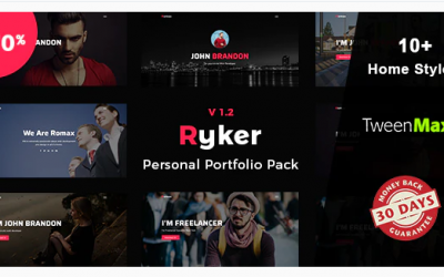 Ryker - Personal / Portfolio / Resume Template Nulled