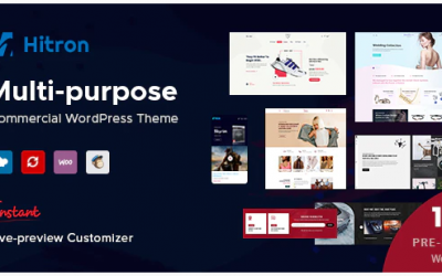 Hitron - Creative Multipurpose WordPress Theme Nulled