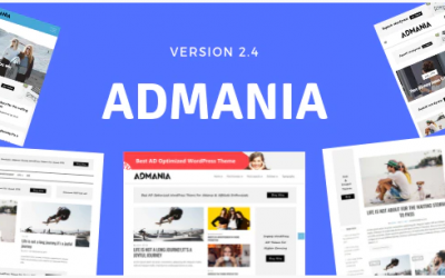 You are downloading Admania - Adsense WordPress Theme With Gutenberg Compatibility whose current version has been getting more updates nowadays, so, please