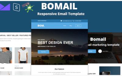 You are downloading BOMAIL - Best Responsive Email Template + Online Stampready Builder whose current version has been getting more
