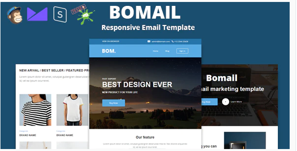 Download BOMAIL – Best Responsive Email Template + Online Stampready Builder Nulled