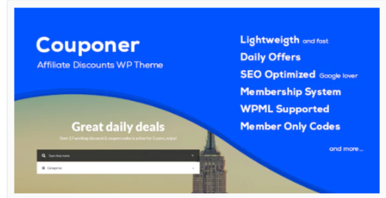 Download Couponer – Coupons & Discounts WP Theme Nulled