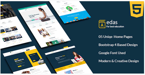 Download Edas – Education & Learning HTML Template Nulled