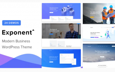 You are downloading Exponent - Modern Multi-Purpose Business WordPress theme whose current version has been getting more updates nowadays, so, please