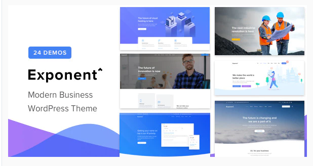 Download Exponent – Modern Multi-Purpose Business WordPress theme Nulled