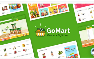 Gomart Grocery BigStore Prestashop 1.7 Theme Nulled