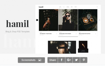 You are downloading Hamil - Blog & Shop PSD Template whose current version has been getting more updates nowadays, so, please keep visiting