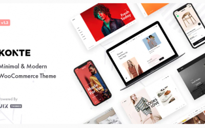 You are downloading Konte - Minimal & Modern WooCommerce WordPress Theme whose current version has been getting more updates nowadays, so, please