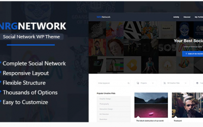 You are downloading NRGNetwork - Responsive Social Network WordPress Theme whose current version has been getting more updates nowadays, so, pleas
