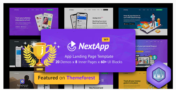 Download NextApp – App Landing WordPress Theme Nulled